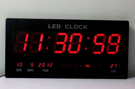 digital wall clock with second timer fitness room decor