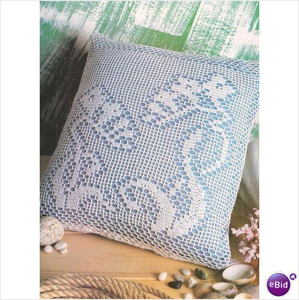Crochet Patterns Nz : Crochet Pillow Pattern Ramblers on eBid New Zealand