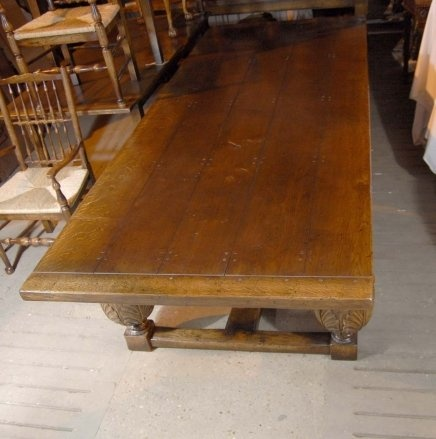 Oak Refectory Tables For Sale XL 10 FT FRENCH OAK RUSTIC REFECTORY KITCHEN DINING TABLE For Sale ...
