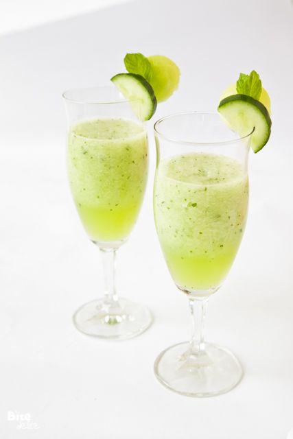 Melon, cucumber, mint & lime smoothie | Drinks | Pinterest