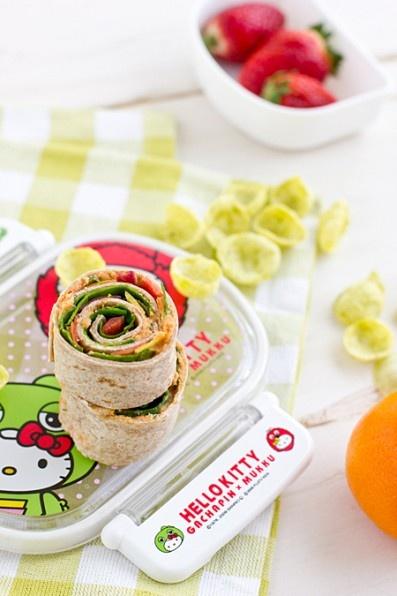 slow-roasted tomato basil hummus + veggie hummus wraps - http://www ...