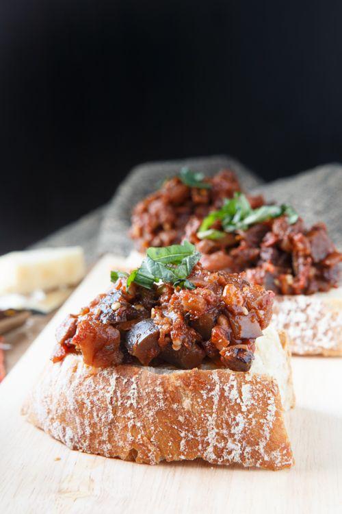 Eggplant Caponatina Crostini   Recipe