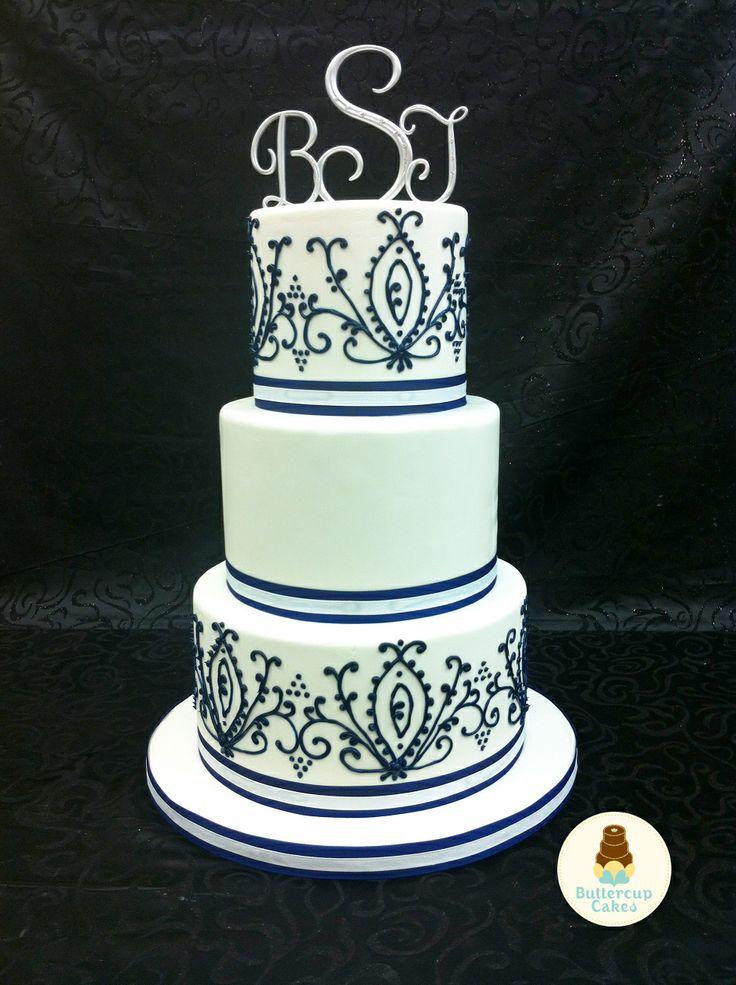 Black and White Wedding Cake   Wedding Cakes   Pinterest