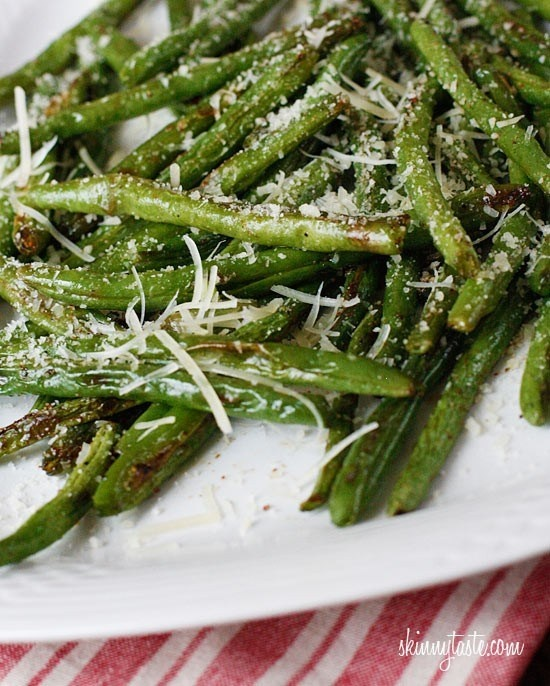 Roasted parmesan green beans | Vegan ideas | Pinterest