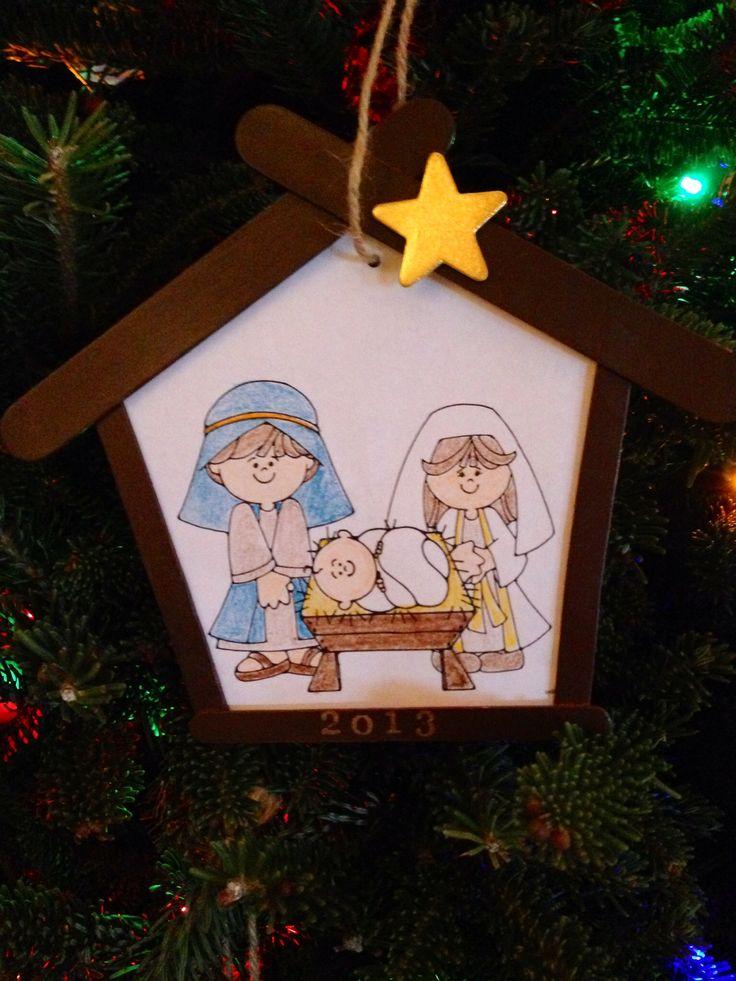 Diy nativity ornament