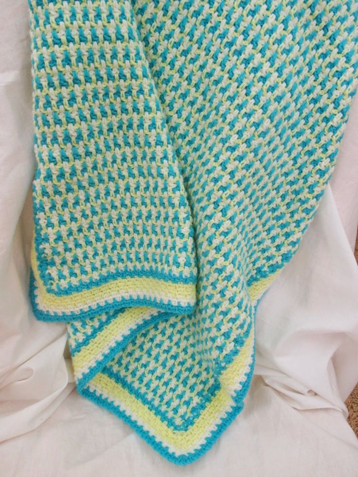 Interlocking stitch blanket - free crochet pattern ...