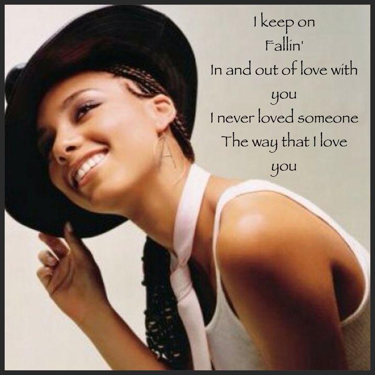 Before mainstream influence...Alicia Keys fallin lyrics