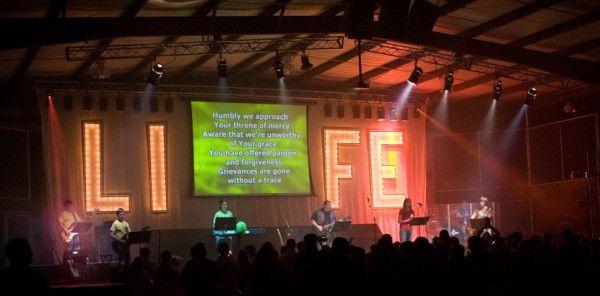 Huge letters lit up ministry ideas pinterest