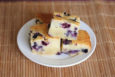 Blueberry Mochi Cake - Mochi has this unbelievable texture that I just ...