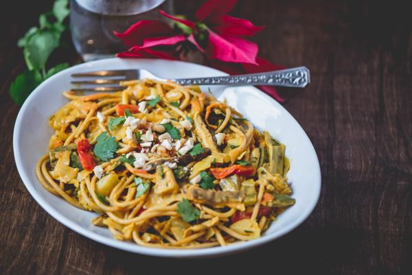 Coconut Curry Cabbage Stir-Fry with Pasta...via Food Fitness Fresh Air ...