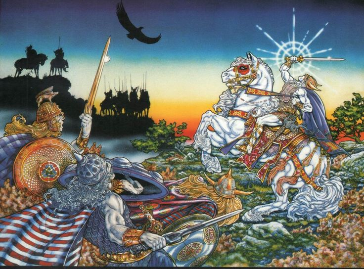 Lugh the il-Dana, Jim Fitzpatrick, 1979. I have an original print on the wall over my desk.