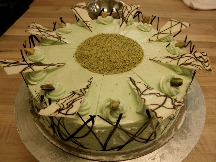 torte recipes dishmaps chocolate pistachio torte with warm chocolate ...