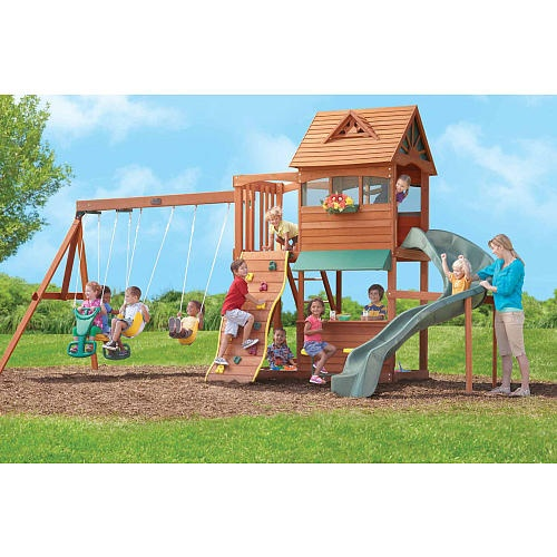 Wood Swing Sets Gym Sets Playsets Backyard Fun Toys R Us Photos