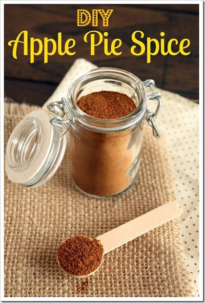 DIY Apple Pie Spice -just the other day I saw this listed as ...