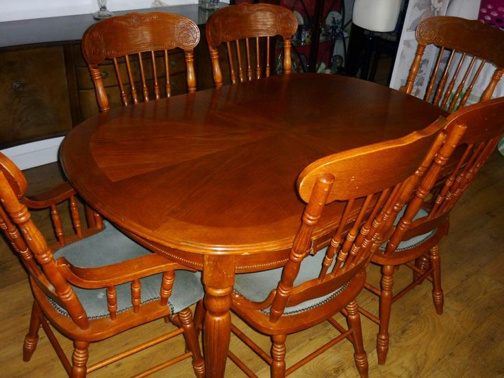 Ornate Teak Extending Dining Table Six Chairs Find Us At Vintage Valley