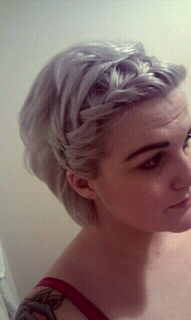 Hairstyles For Short Hair Plaits : braided bangs. Instead of stopping my braid thingy where I normally do ...