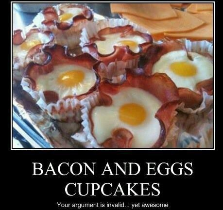 Bacon & Eggs Cupcakes | Time to Eat & Drink | Pinterest