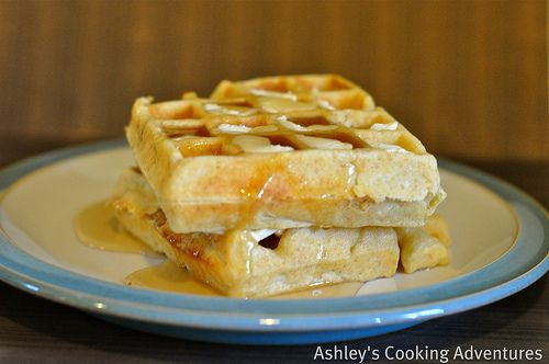 peanut butter waffles | Desserts and Sweets | Pinterest