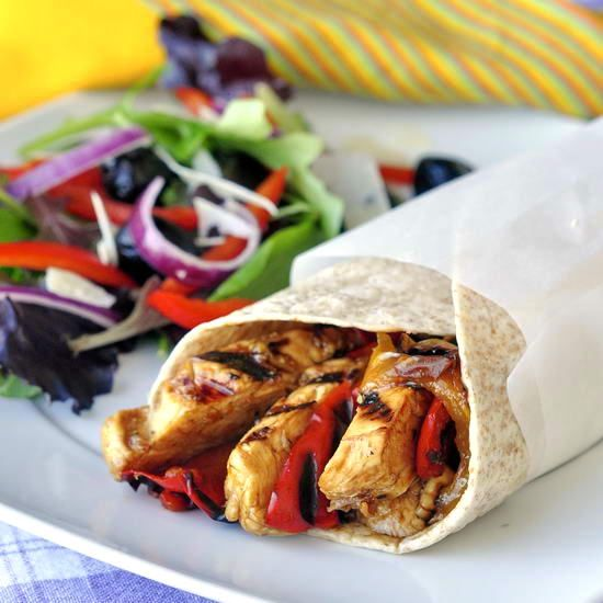 Orange Balsamic Grilled Chicken Wraps   Sandwiches and Wraps   Pinter ...