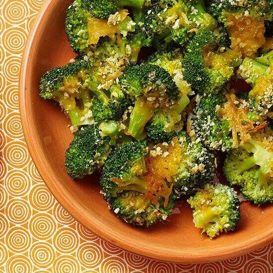 Crispy Cheesy Broccoli | Veggies Recipes | Pinterest