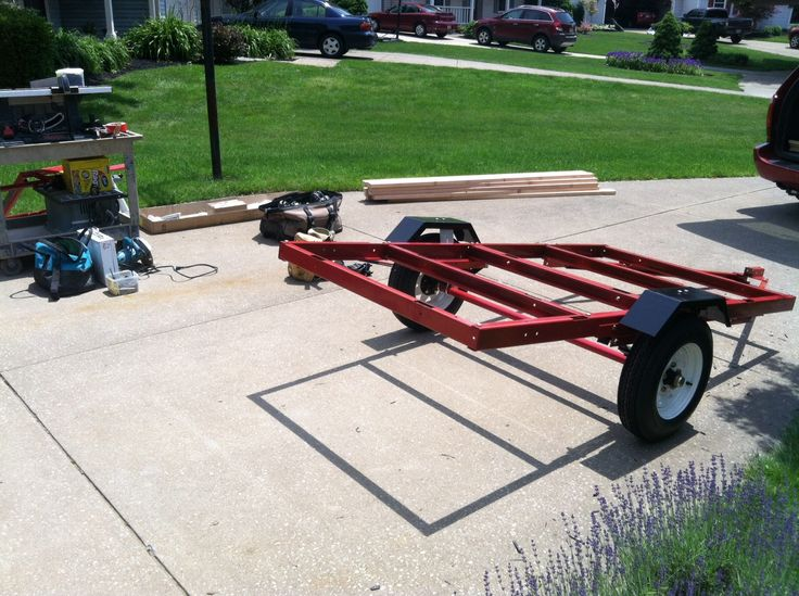 Awesome Camping Trailer  Harbor Freight Trailer Custom Built Trailer