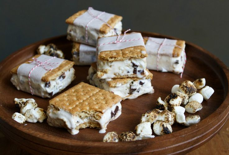 mores Ice Cream Sandwich - The Chic Site http://thechicsite.com/2013 ...