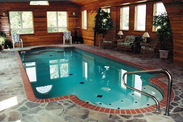 Indoor pool luxury pools pinterest for Luxury house plans with indoor pool