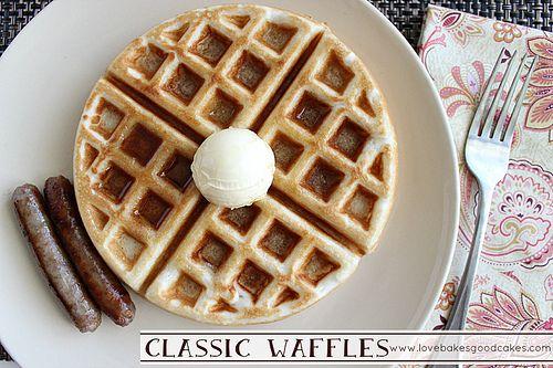 Classic Waffles | Wonderful Foodies- WFW | Pinterest