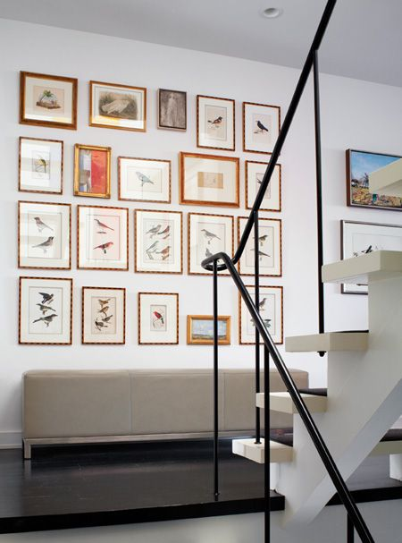 Gallery Wall and Simple Staircase // Photography Virginia Macdonald // House & Home February 2011 issue