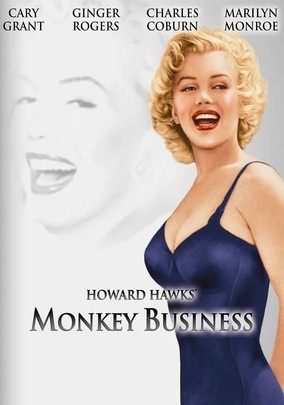 Cary Grant and Ginger Rogers make a delicious screwball comedy team in this caper directed by Howard Hawks. Grant's a middle-aged fuddy-duddy who may have invented a fountain of youth serum in his laboratory. But when a rampaging chimp mixes it into the water cooler, Grant and wife Rogers regress to their childhood. Marilyn Monroe is also a scream as the dim-bulb secretary to Charles Coburn.