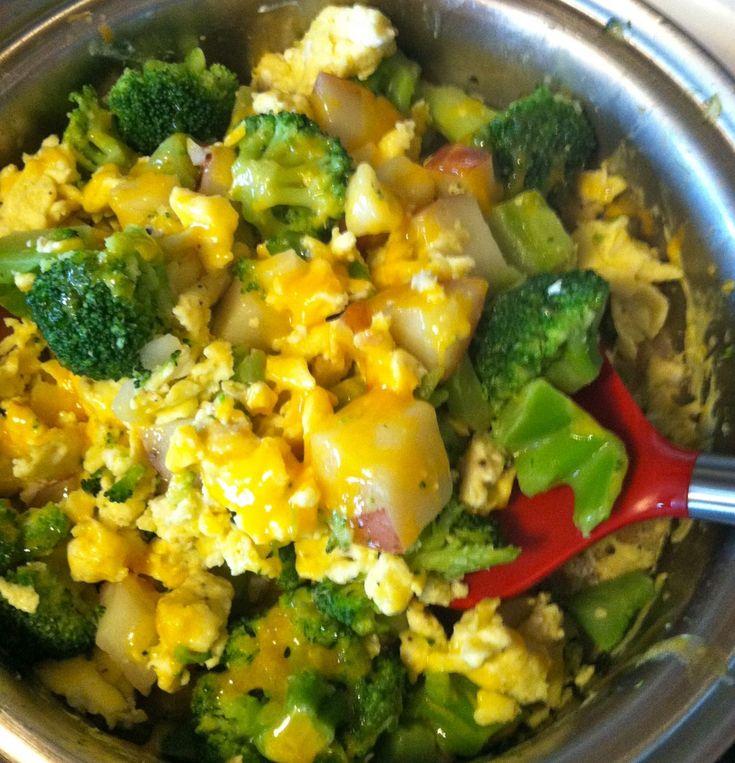 Broccoli Cheddar Scramble Recipe — Dishmaps