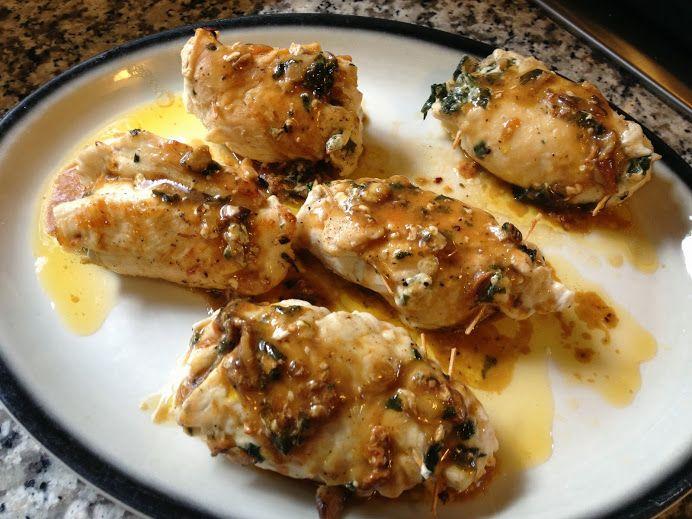 Involtini or Involtini Di Pollo (Stuffed Chicken Breasts with spinach ...