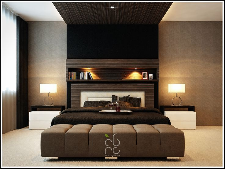 Contemporary Master Bedroom With Black Comfortable Master Single Bed