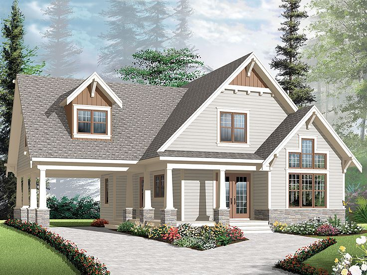 Bungalow Home Plan 027h 0270 Mother In Law Suite