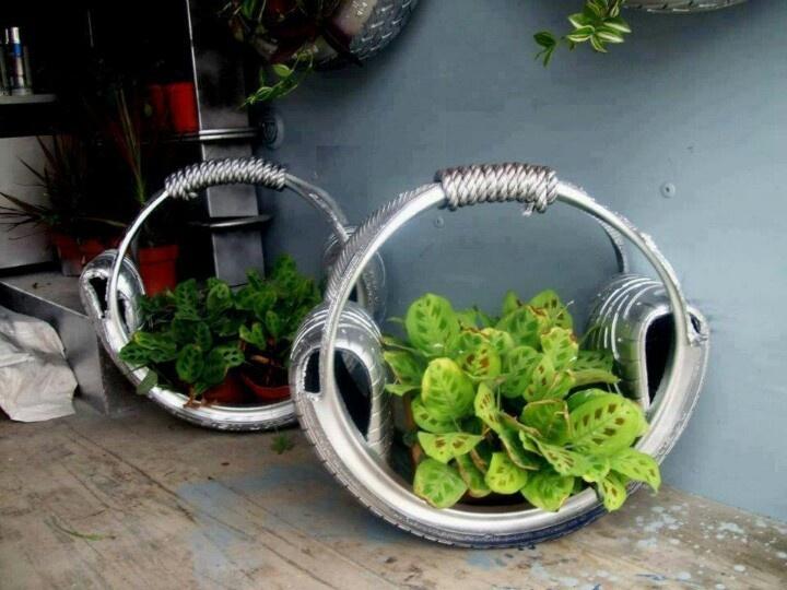 Recicla tus neum ticos y convi rtelos en maceteros for Ideas para hacer sillones reciclados