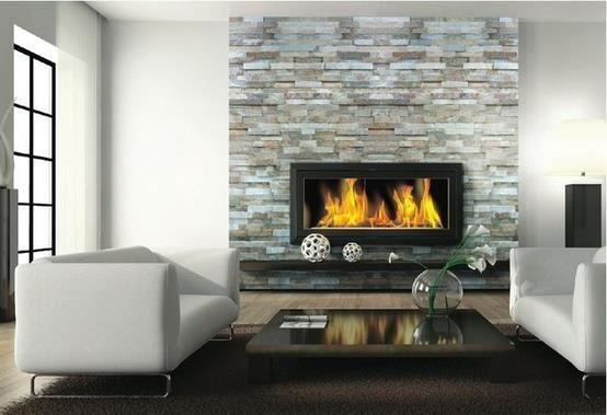 Beautiful modern stone fireplace fire place pinterest - Beautiful stone fireplaces that rock ...