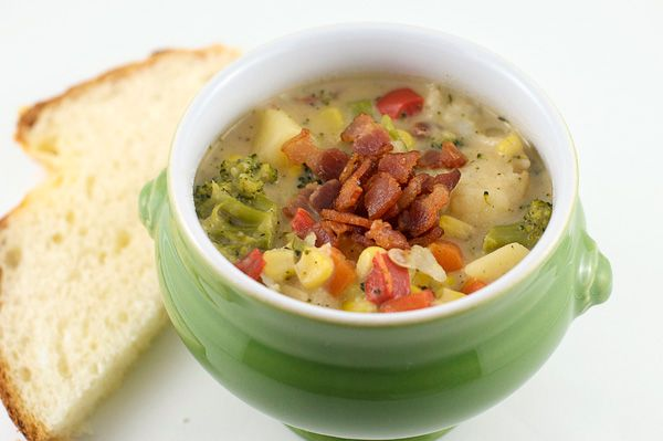 Vegetable Chowder fortifies you to face winter chills, warming from ...