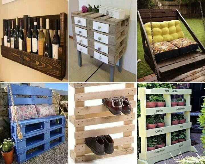 pallet recycling ideas crafts pinterest