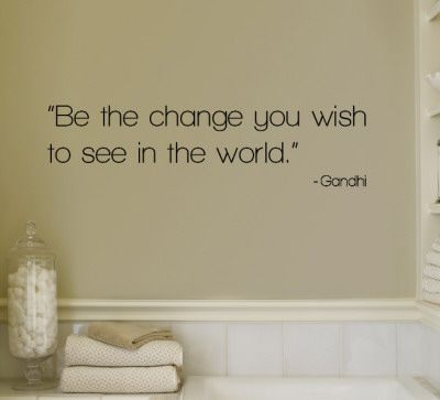 Change - Gandhi Wall Decal