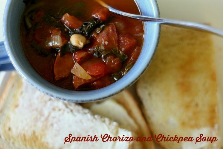Spanish Chorizo and Chickpea Soup ‹ Twinkle In The EyeTwinkle In The ...
