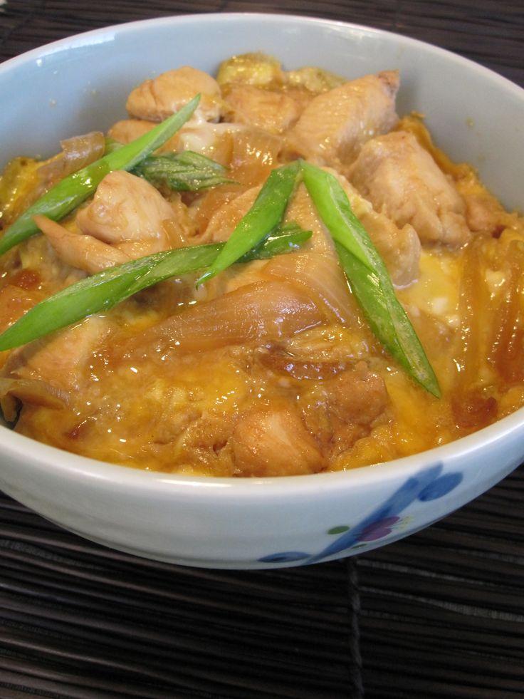 Oyakodon, a favorite Japanese dish. easy to make.