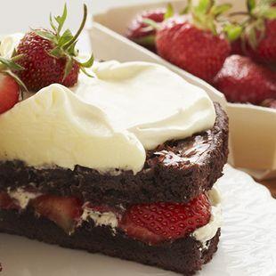strawberry brownies