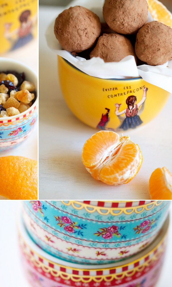 Citrus Cranberry Chocolate Truffles~