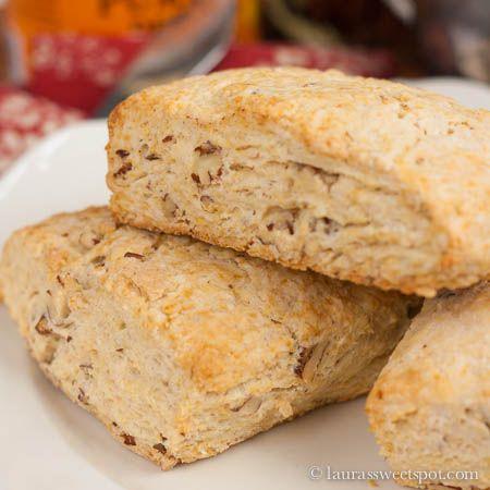 Pecan Sour Cream Biscuits/Scones. Ingredients: flour, baking powder ...