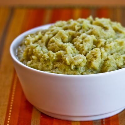 Pureed Cauliflower and Cabbage with Green Onions and Parmesan | Recipe