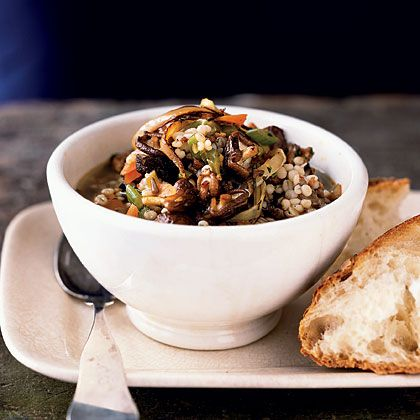 Spicy Sausage, Barley, and Mushroom Stew | Recipe