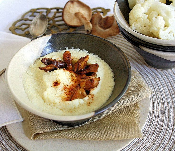 Creamy Cauliflower Purée with Shiitake and Smoked Paprika (i've been ...