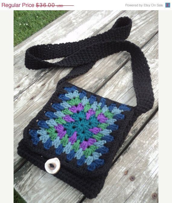 Crochet Small Purse : ON SALE Hand Crochet Small Purse/Bag Rainbow by WendysWonders127, $28 ...