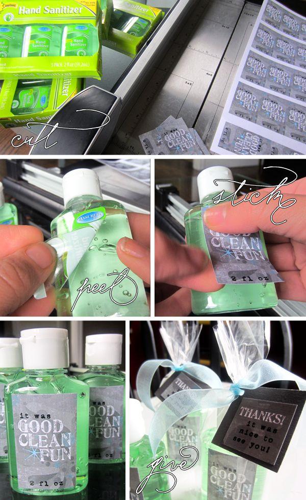 custom hand sanitizer great baby shower favor