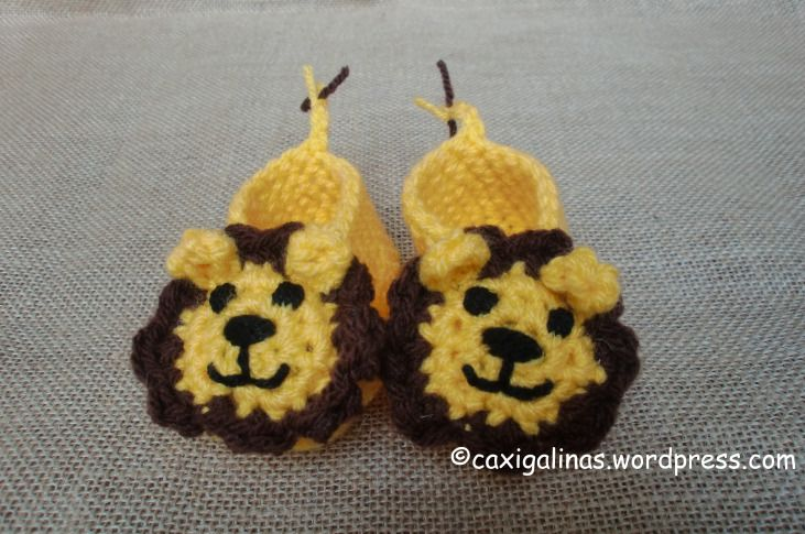 Free Crochet Pattern Baby Lion Booties : lion booties CROCHET BABY BOOTIES Pinterest
